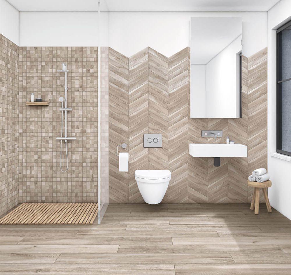 Parquet ou carrelage imitation bois dans une salle de bain ?