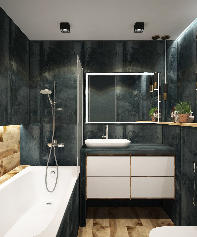 le carrelage imitation bois pour la salle de bain